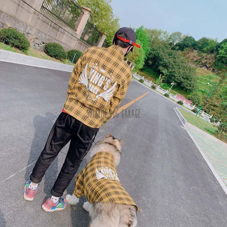 dog and human matching shirts
