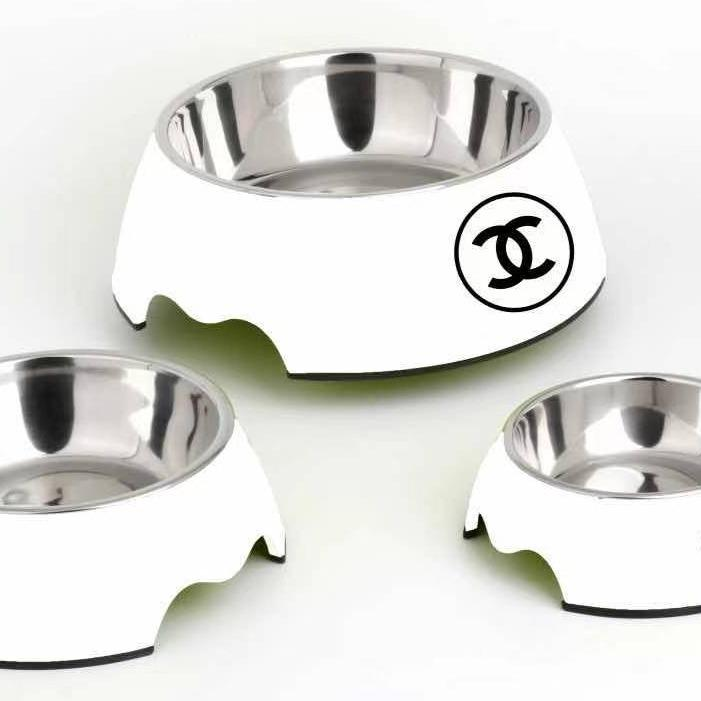chanel dog bowl