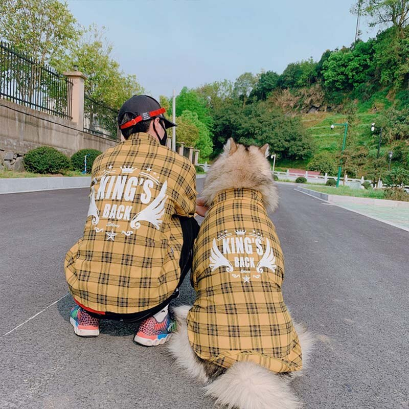 dog and owner matching shirts