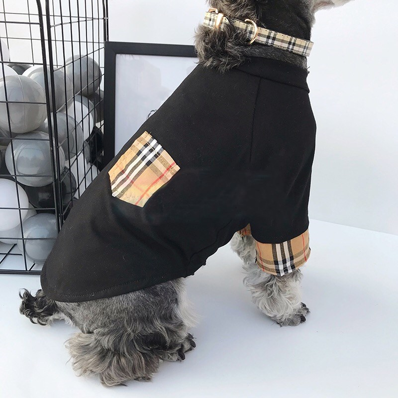 plaid dog shirt